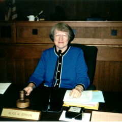 Alice when she was Chair of the Orange County Board of County Commissioners