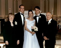 Alice, her son David, daughter Jennifer, son-in-law David, and husband Alan