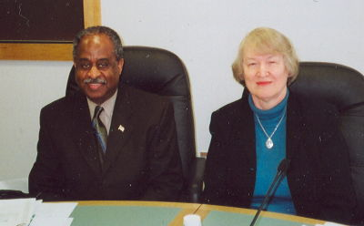 Members of both the Triangle Transit Board of Trustees and the Durham/Chapel Hill/Carrboro Metropolitan Transportation Association's Transportation Advisory Committee:  Bill Bell, Mayor of Durham, and Alice