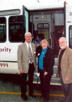 Celebration of Triangle Transit's Route 420 bus service: